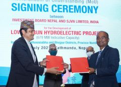 SJVN INKS MOU FOR 679 MW LOWER ARUN PROJECT WITH GOVT OF NEPAL